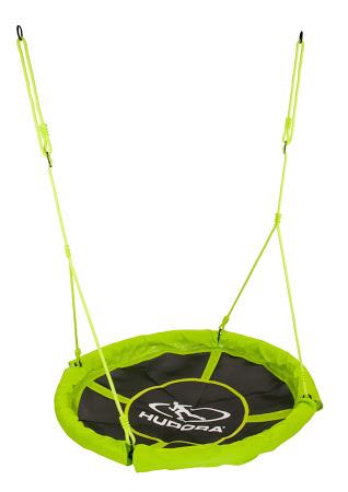 hudora 72156 nestschaukel 110 cm durchmesser gr n max 100 kg klettern rutschen schaukeln. Black Bedroom Furniture Sets. Home Design Ideas