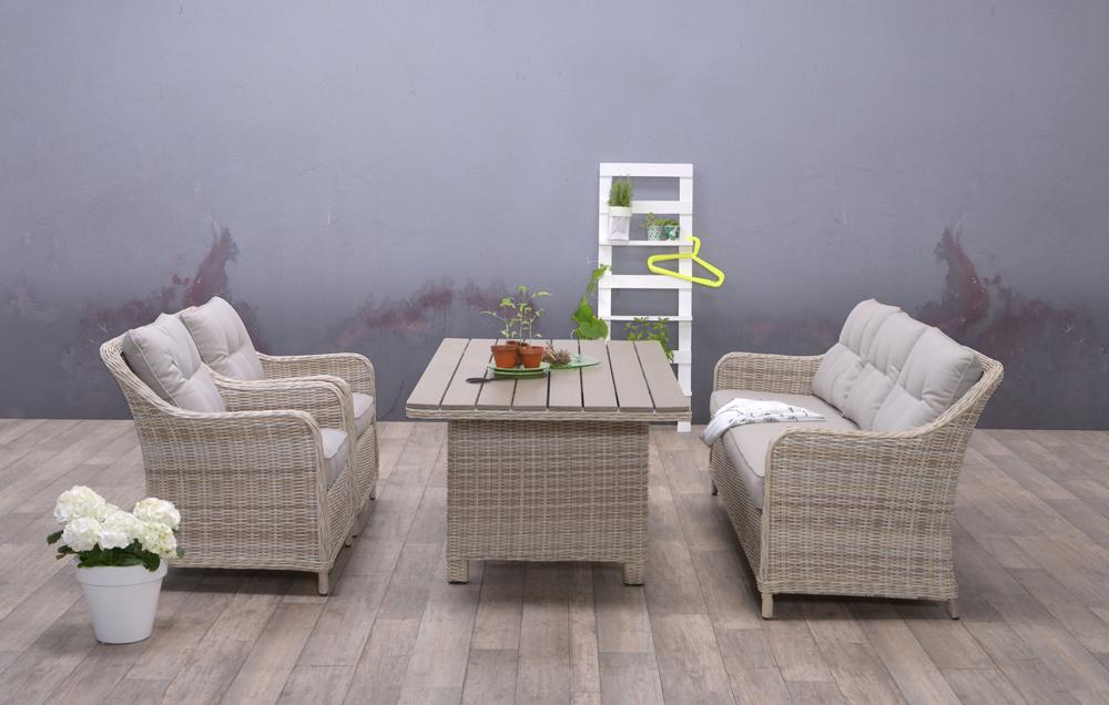 garden impression dining und loungegruppe milwaukee mit 3. Black Bedroom Furniture Sets. Home Design Ideas