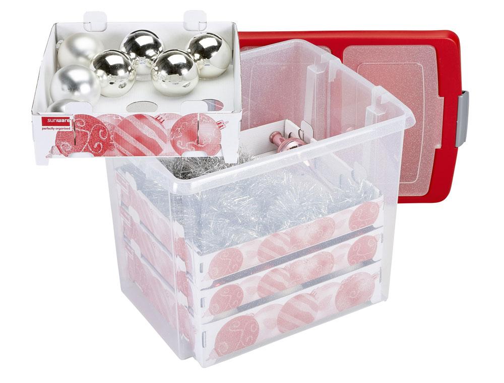 Aufbewahrungsbox Weihnachtskugeln.Weihnachten Baumschmuck Sunware Aufbewahrungsbox Weihnachtsbox