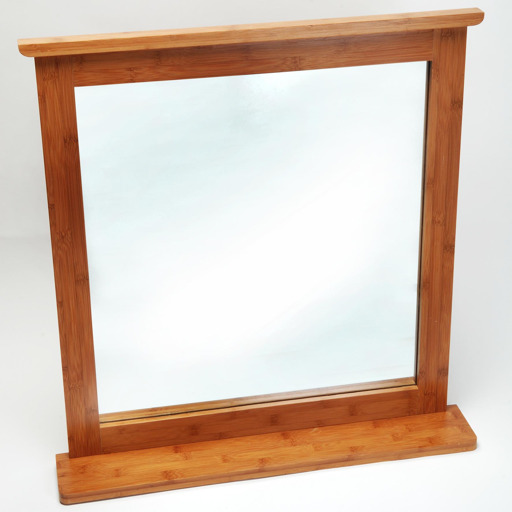 spiegel bambus mit ablage spiegel derbaumarktshop. Black Bedroom Furniture Sets. Home Design Ideas
