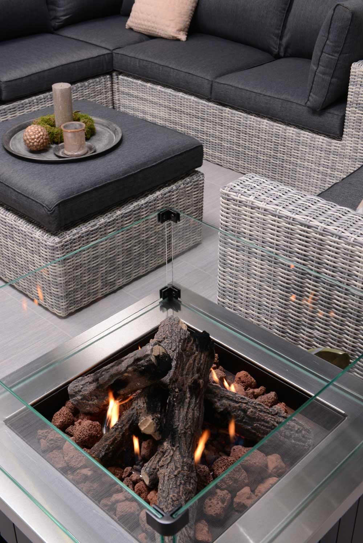 Garden Impression Cozy Living Feuerstelle Faro 60 x 60 cm - Art ...