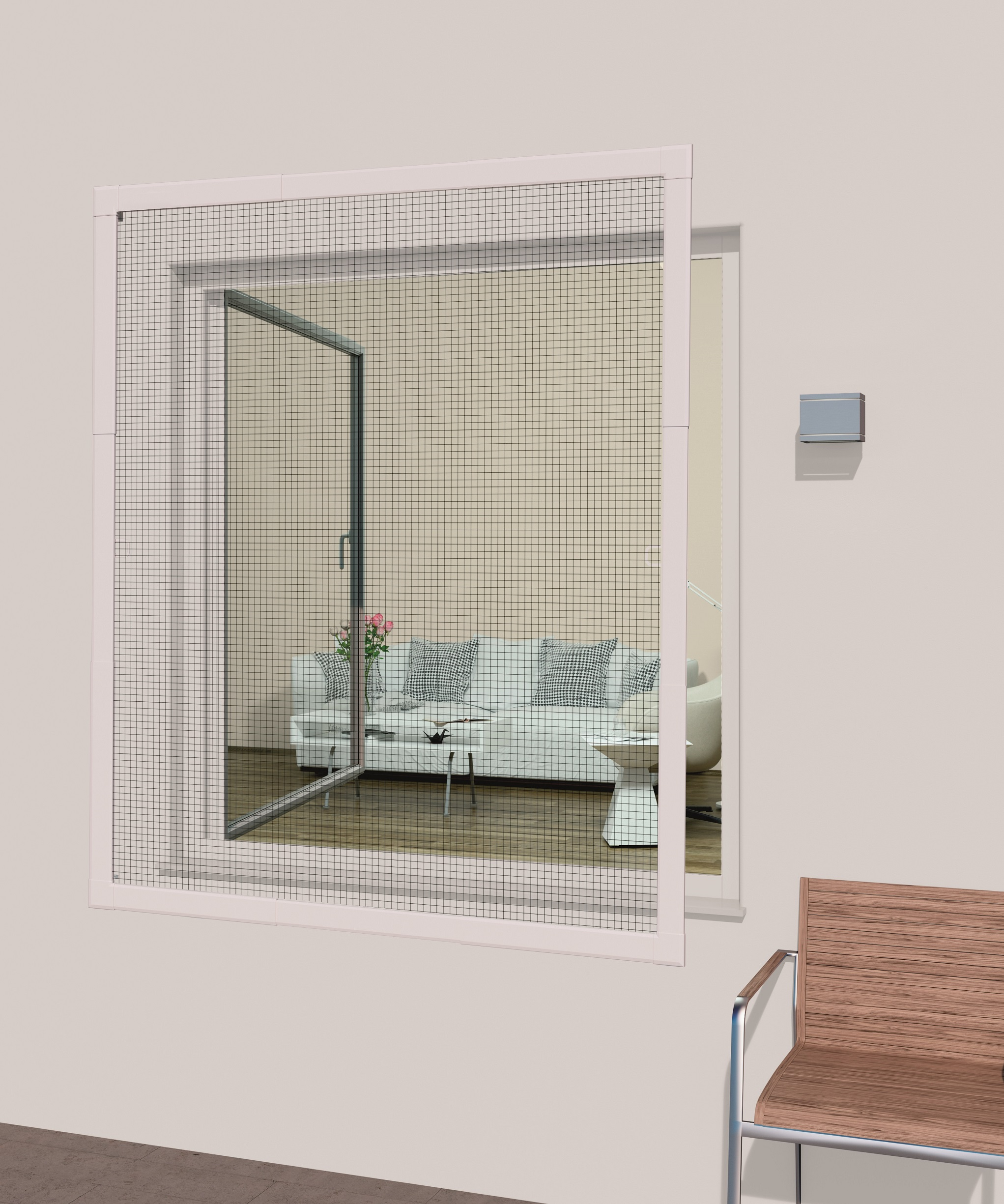 Windhager Insect-Stop Plus Flexi Fit Rahmenfenster max. 110 x 130cm ...
