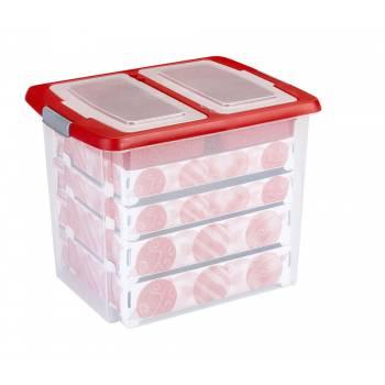 sunware aufbewahrungsbox weihnachtsbox q line 22 liter mit einsatz f r 60 weihnachtskugeln. Black Bedroom Furniture Sets. Home Design Ideas