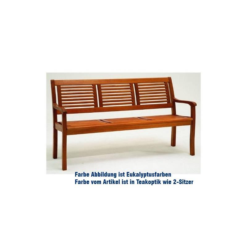 Casaya Gartenbank Paolo 3-Sitzer Eukalyptus in Teakoptik FSC 916658 ...