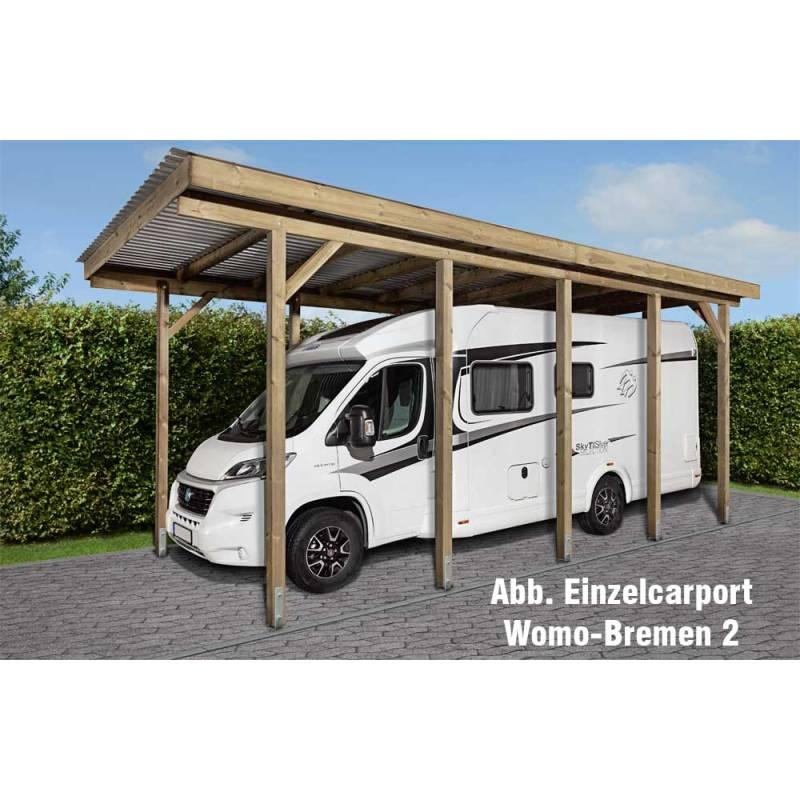 Wohnmobil-Einzelcarport Womo-Bremen 2 (340 x 760 x 306 cm) mit 10 ...